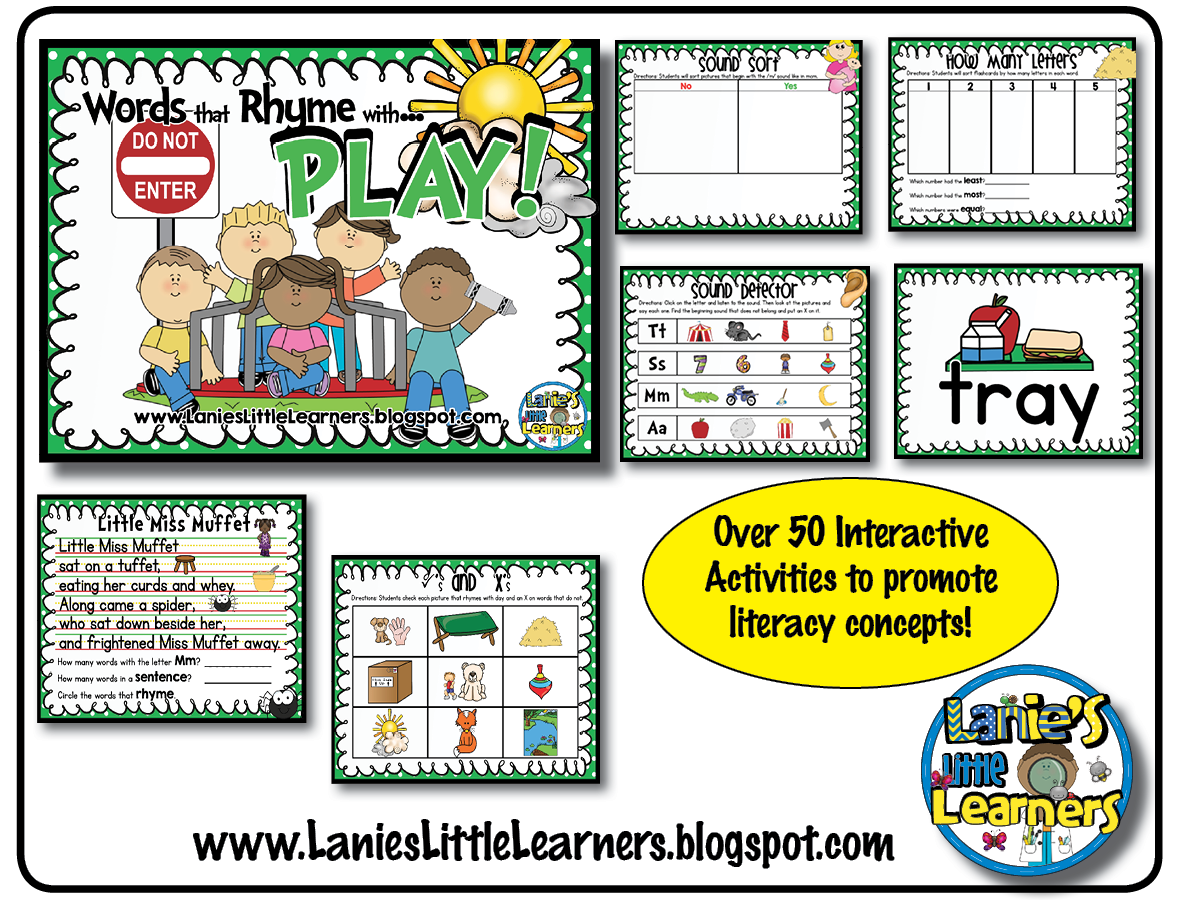 Lanie S Little Learners Little Miss Muffet Phonological