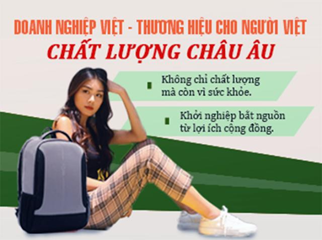 Balo laptop chống nước Natoli mang thương hiệu Việt