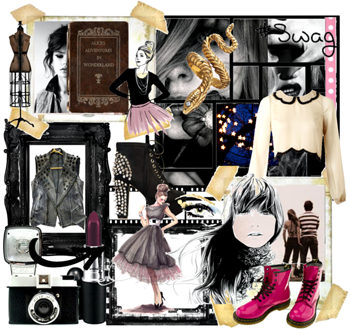 DIY fashion mood board, the creative wardrobe, fashion illustration, fashion sketch