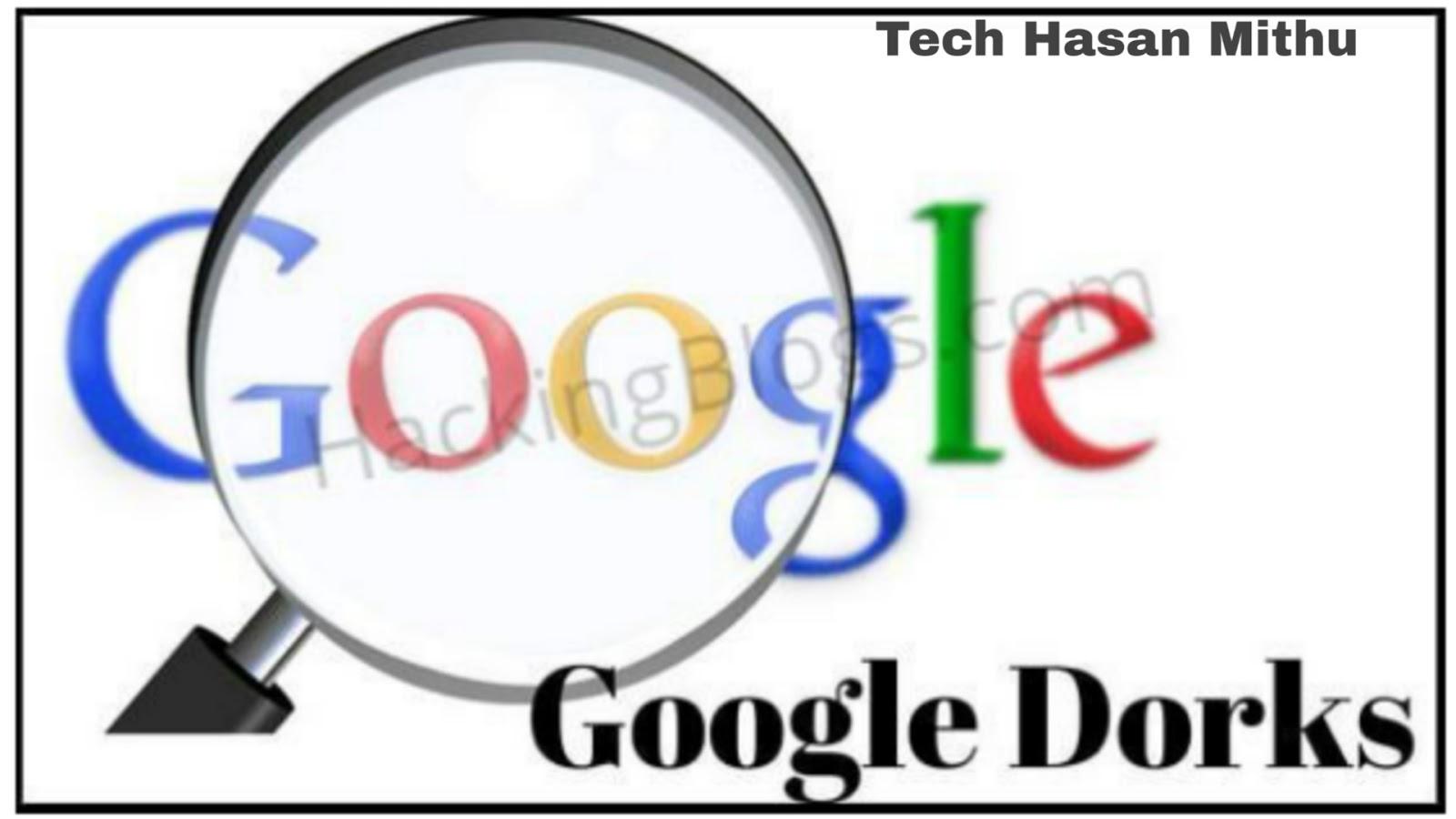 Google Dorks Cheat Sheet 2018