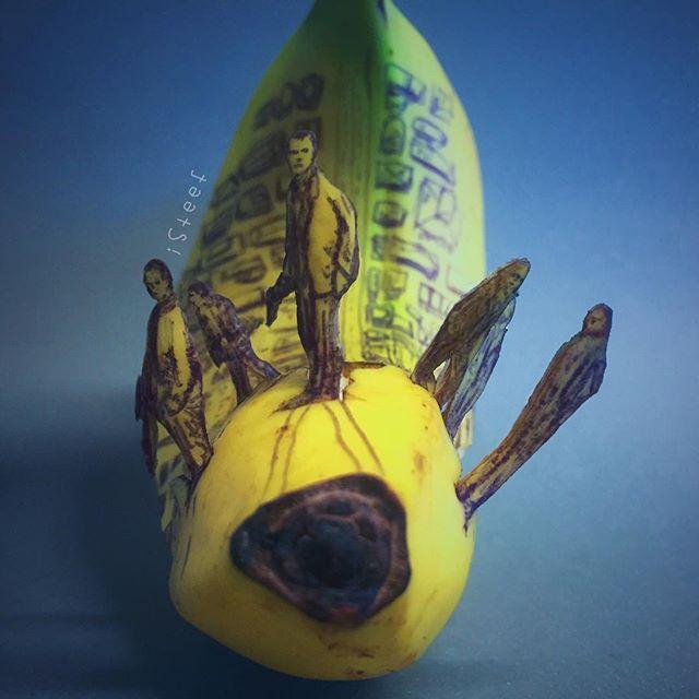 lukisan media buah pisang paling kreatif unik lucu dan menakjubkan-22