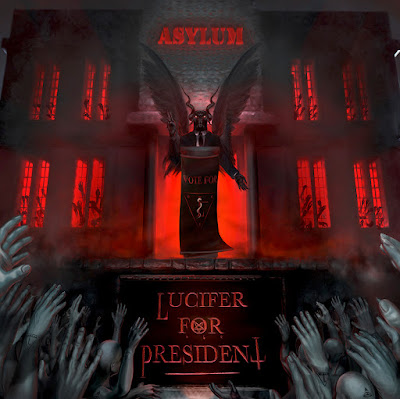 Lucifer For President - Asylum - cover art by Maira Pedroni