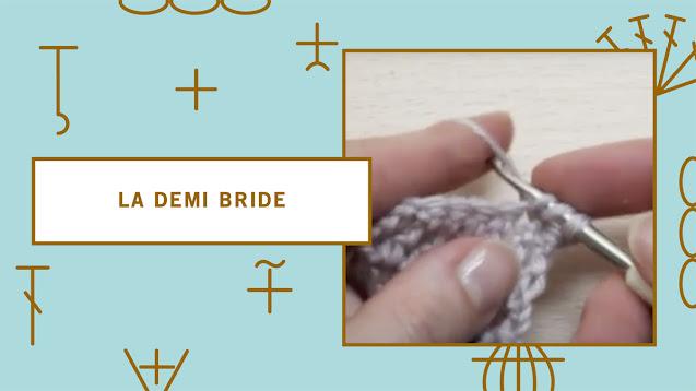 comment faire une demi-bride au crochet