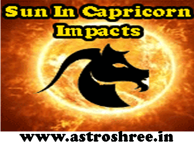 effect of sun enter in capricorn as per astrology