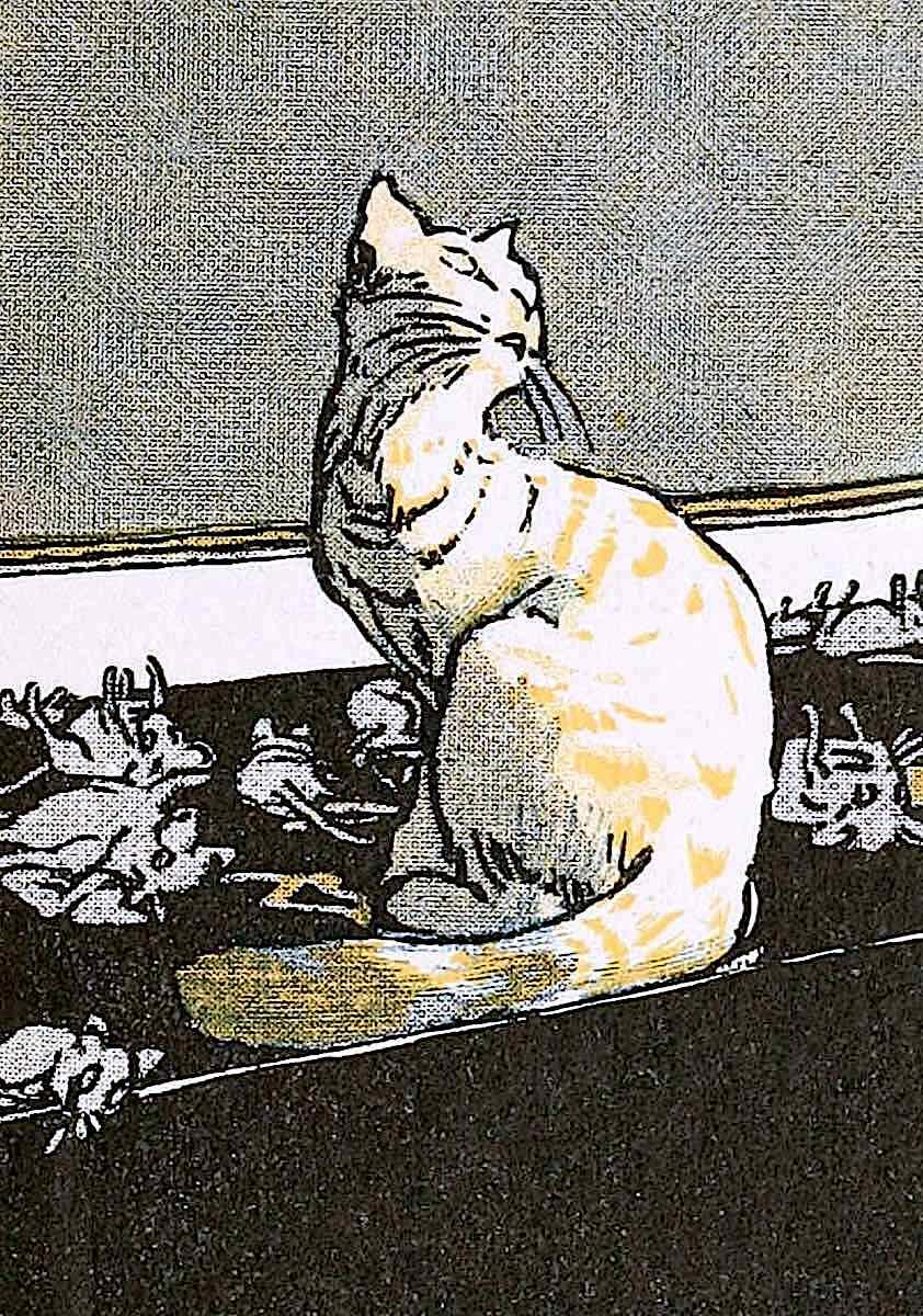 Albert Weisgerber, cat and mice