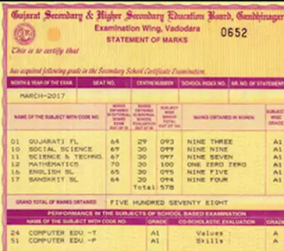 GSEB SSC 10th / HSEB HSC 12th Duplicate Mark Sheet Online at www.gsebeservice.com