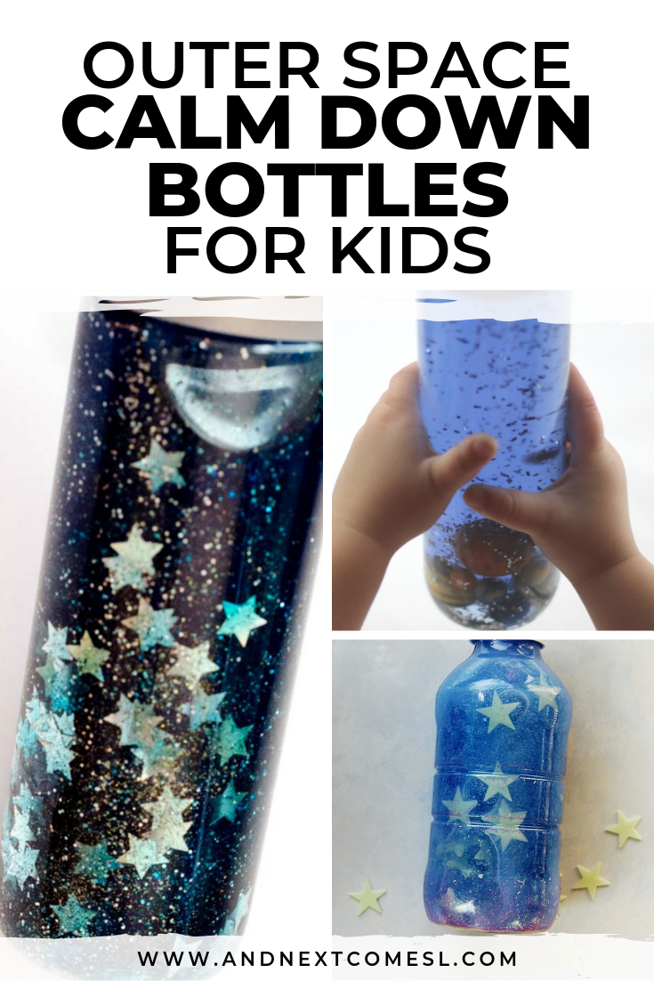 How to make calming sensory bottles for kids that are inspired by outer space