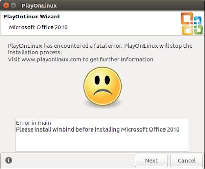 Error in main... Please install winbind