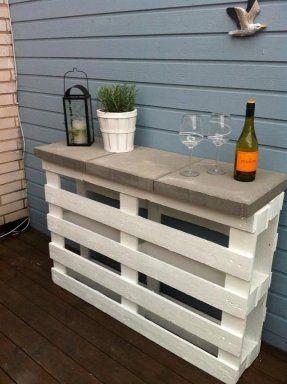 Ideas low cost para terrazas con palets