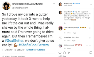 BBnaija's Khafi involved in an accident