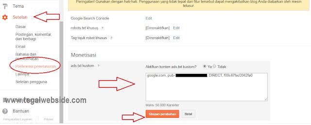 Cara Mengaktifkan Ads.txt Adsense di Blogspot