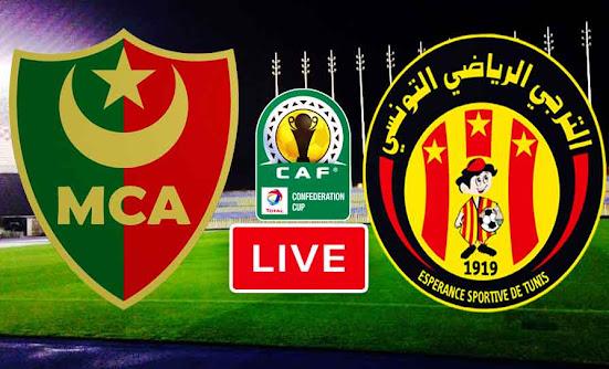 Match ES Tunis Taraji VS Mouloudia Alger Live Stream