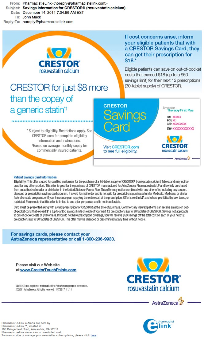 Crestor coupons and discounts