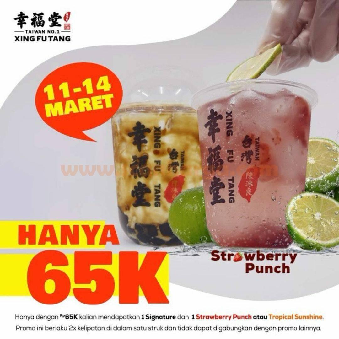 Xing Fu Tang Promo 2 Minuman Spesial Hanya Rp. 65.000