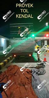 Pemasangan Pagar BRC Proyek Tol Kendal