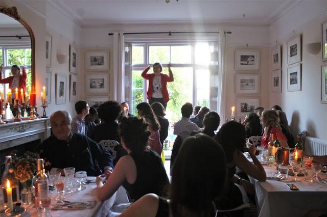 The brilliant Josie Long, compering at my underground restaurant comedy night, msmarmitelover