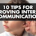 10 Tips For Improving Internal Communication #infographic