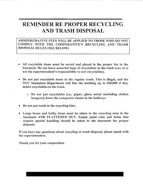 New York City Recycling Notice