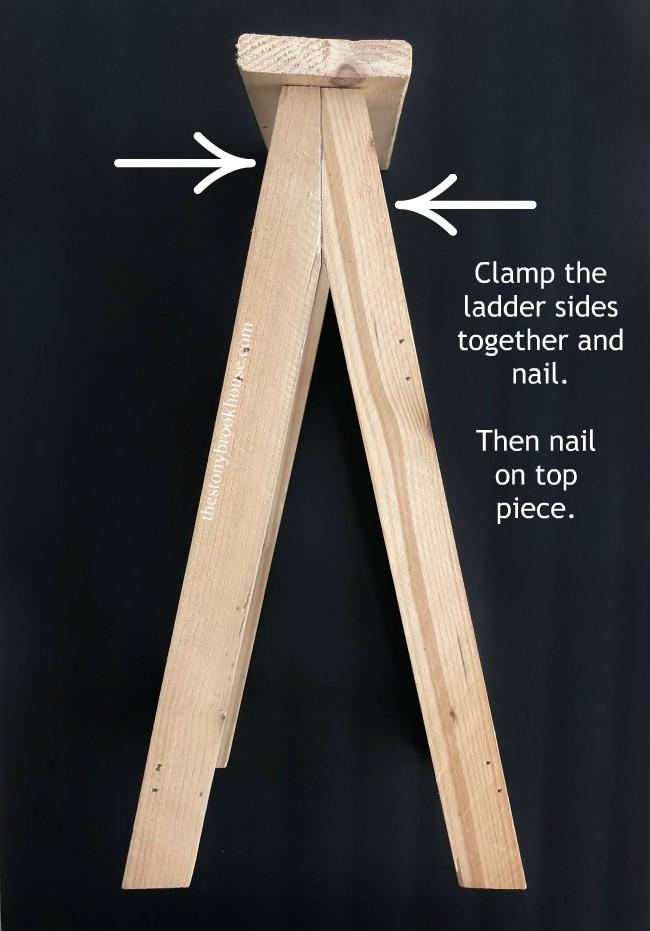 Putting ladder sides together
