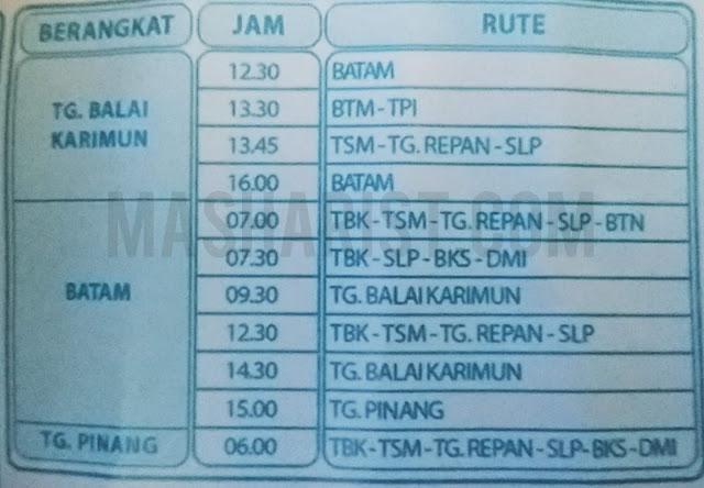 Jadwal dan Rute Dumai Expres dan Dumai Line