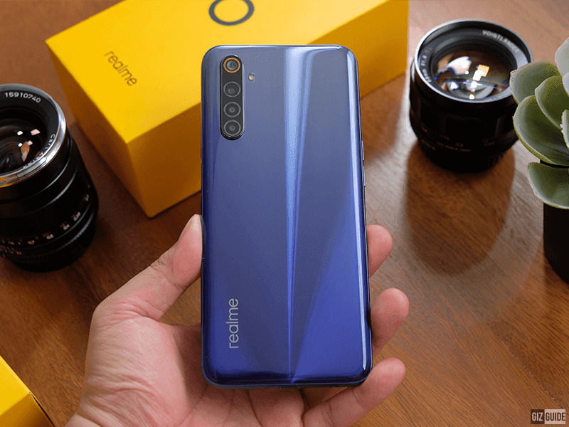 realme 6 backside