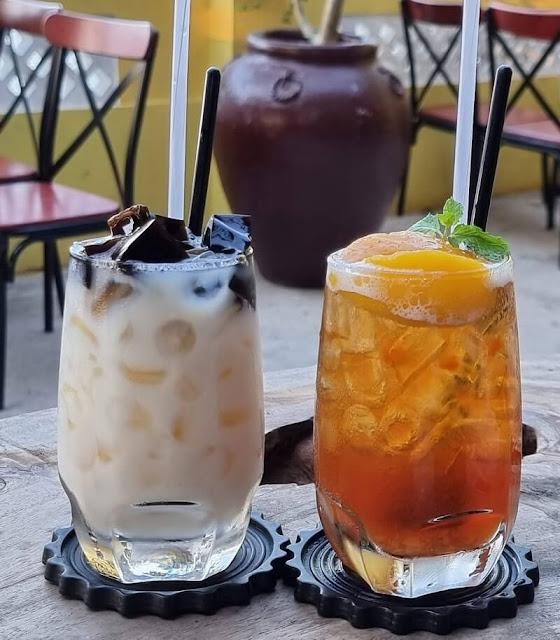 Thức uống tại cafe hoa gạo Sa Đéc