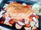 pulpa de porc cu vin alb in tava cu legume - preparare reteta