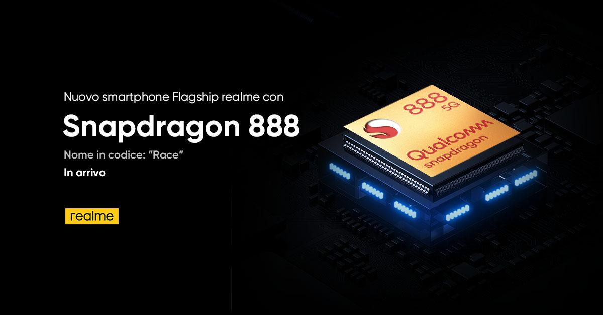 realme Race sarà uno dei primi smartphone con Snapdragon 888