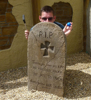 A grave on the Funder Park Adventure Golf course in Dawlish Warren