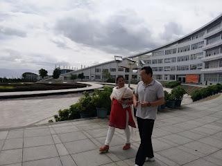09th June ,2015 - Mrs Radha Srinivasagopalan meet with Prof. Zhang Yingfu, Dean , Dali University Dept. of Sports science