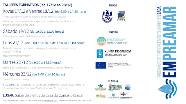 O Concello de Sada organiza un taller gratuíto para fomentar o emprendemento no sector do mar financiado polo Galp Golfo Ártabro Sur_2
