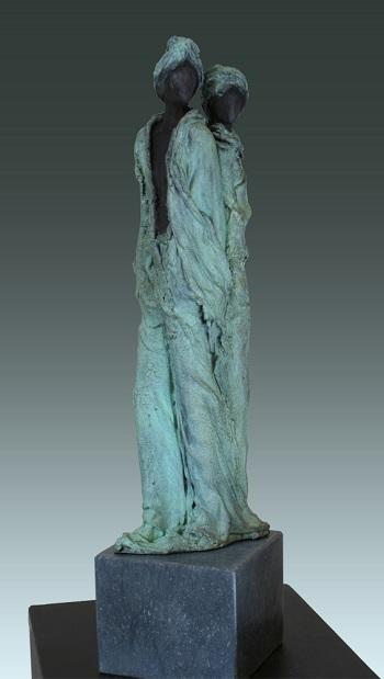 "Kieta Nuij - ""Twee geliefden"" | imagenes de obras de arte contemporaneo tristes, esculturas bellas chidas | figurative art, sculptures | kunst"
