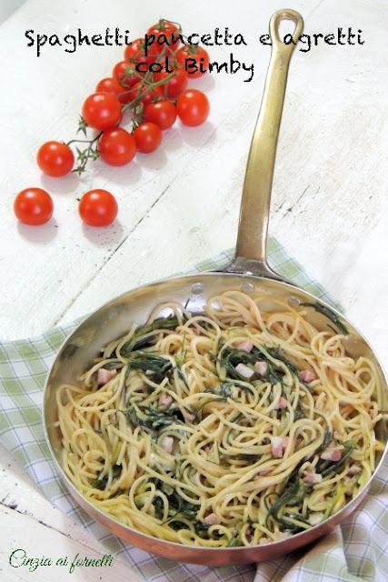 spaghetti agretti e pancetta ricetta bimby