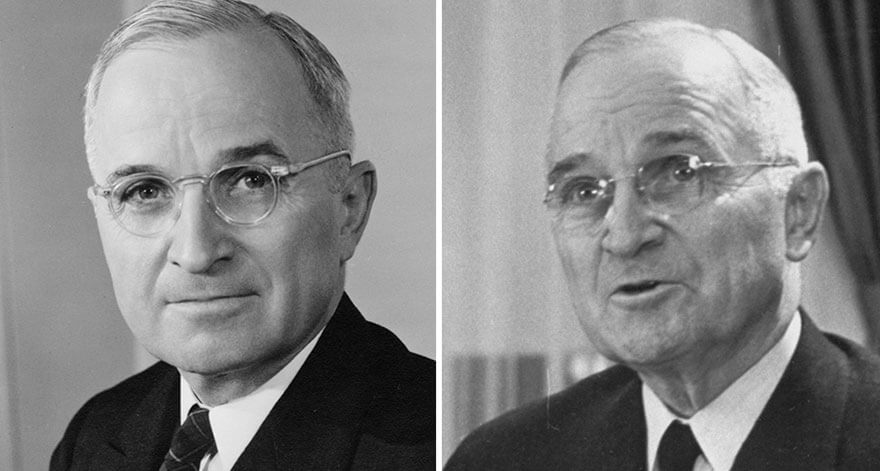 15 Before And After Photos Of US Presidents Depict How Their Job Transformed Them - Harry S. Truman (1945-1953)