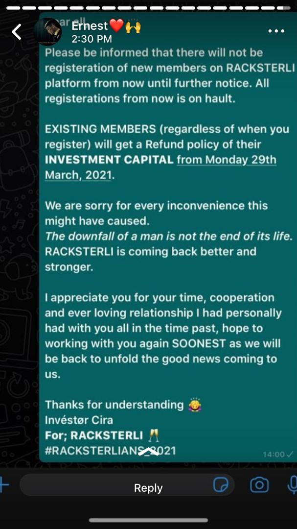 Racksterlians2021 gone