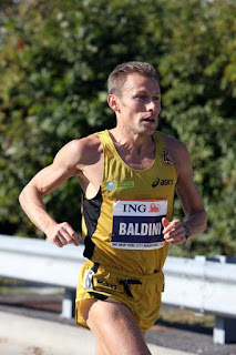 Stefano Baldini in action in the  New York marathon