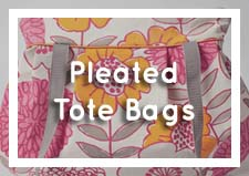 Pleated Tote Bags