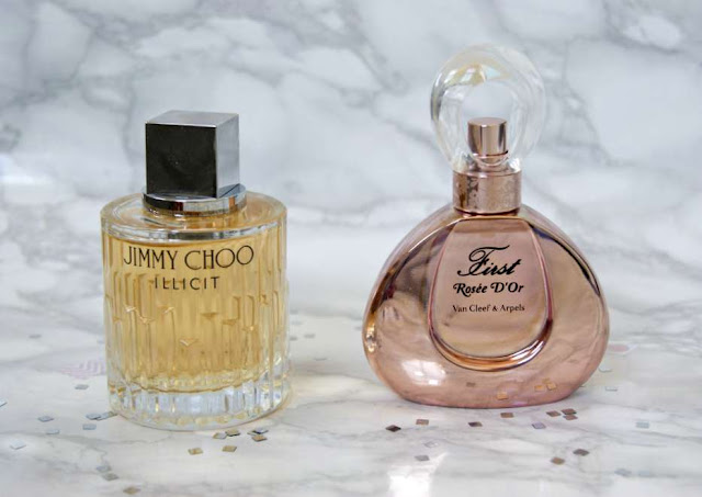 Jimmy Choo Illicit and First Rosée D'Or Van Cleef & Arpels