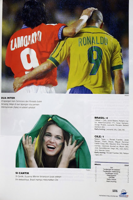 PIALA DUNIA 1998: STATISTIK PERTANDINGAN BRASIL VS CILE