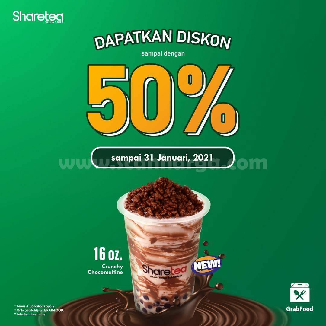 SHARETEA Promo Diskon Up To 50% Spesial Via GRABFOOD
