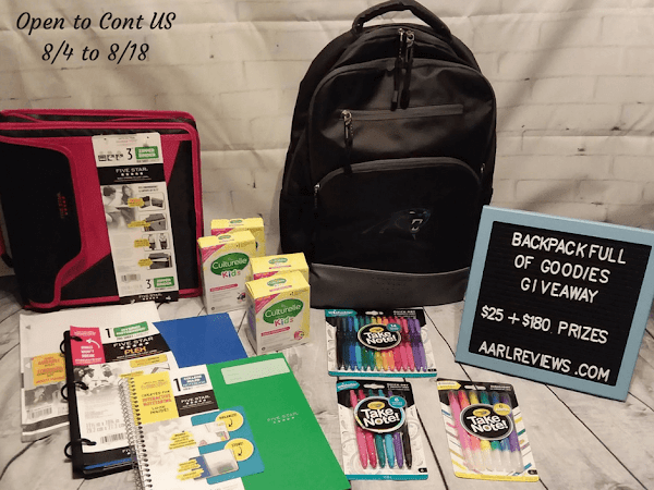 Backpack Full Of Goodies Giveaway ~ $200+ in cash and prizes