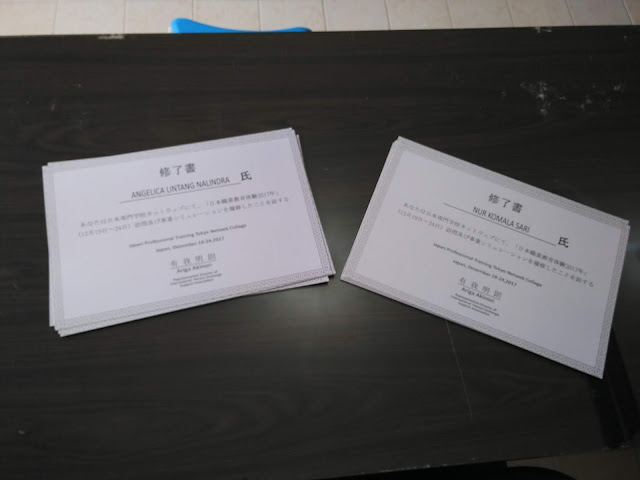 Sertifikat Japan Professional Training