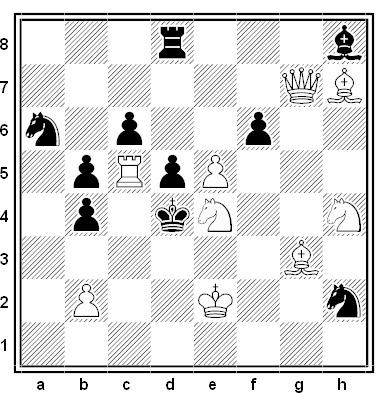 Problema de mate en 2 compuesto por Vasil Krizhanivsky (3º Premio, 2ª Copa FIDE 2011)