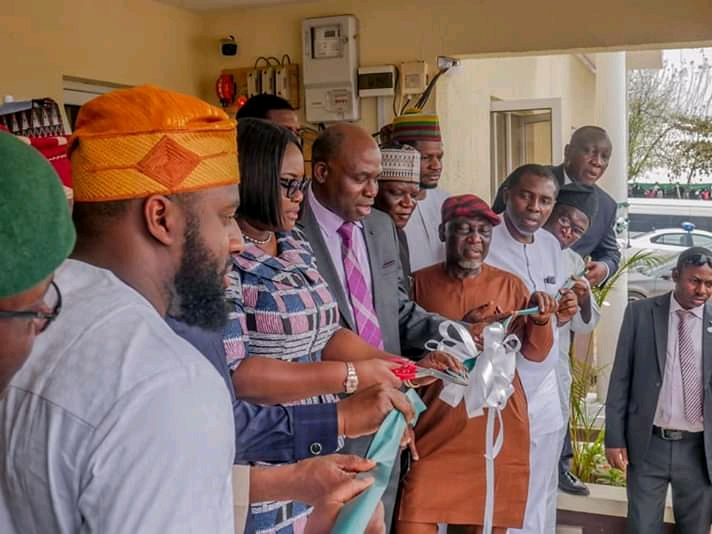 Photos of Oyo State Speaker, Rt. Hon. Adebo Ogundoyin and Others at The Commissioning of ICPC Complex in Oyo State teelamford 4