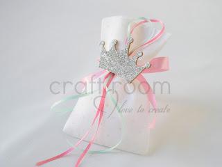 μπομπονιερα-βαπτιση-χειροποιητο-πουγκι-κοριτσι-κορωνα-πριγκιπισσα-ροζ-βεραμαν-ασημενια-ξυλινη-glitter