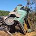 Caminhão perde o controle e tomba na BR-282 em Catanduvas