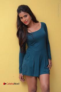 Telugu Actress Prasanthi Stills in Green Short Dress at Swachh Hyderabad Cricket Press Meet  0038.JPG