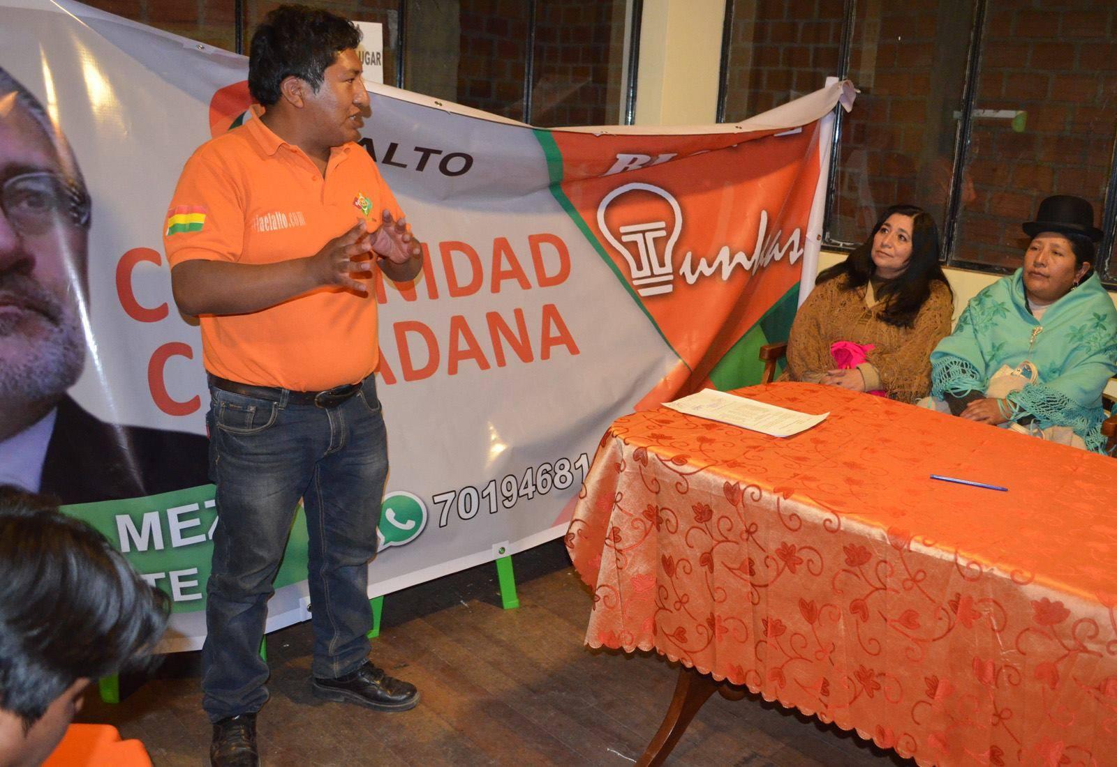 Tunkas es la agrupación que apoya la candidatura de Comunidad Ciudadana en El Alto / PRENSA TUNKAS