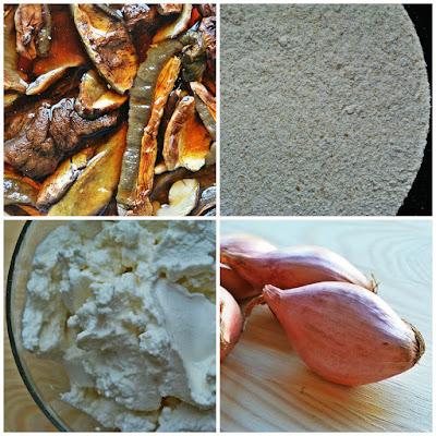 Gryczane pierogi nadziane grzybami i ricottą - składniki