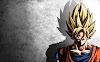 Dragon Ball Z Goku Fond Gris - Fond d'écran en Ultra HD 4K 2160p